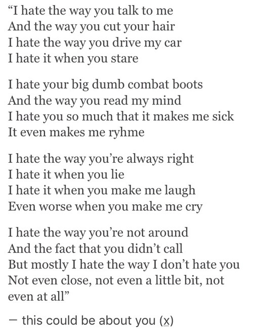 10 things i hate about you lyrics  10 Things I Hate About