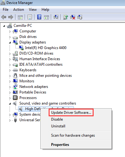 Updating device drivers windows 7