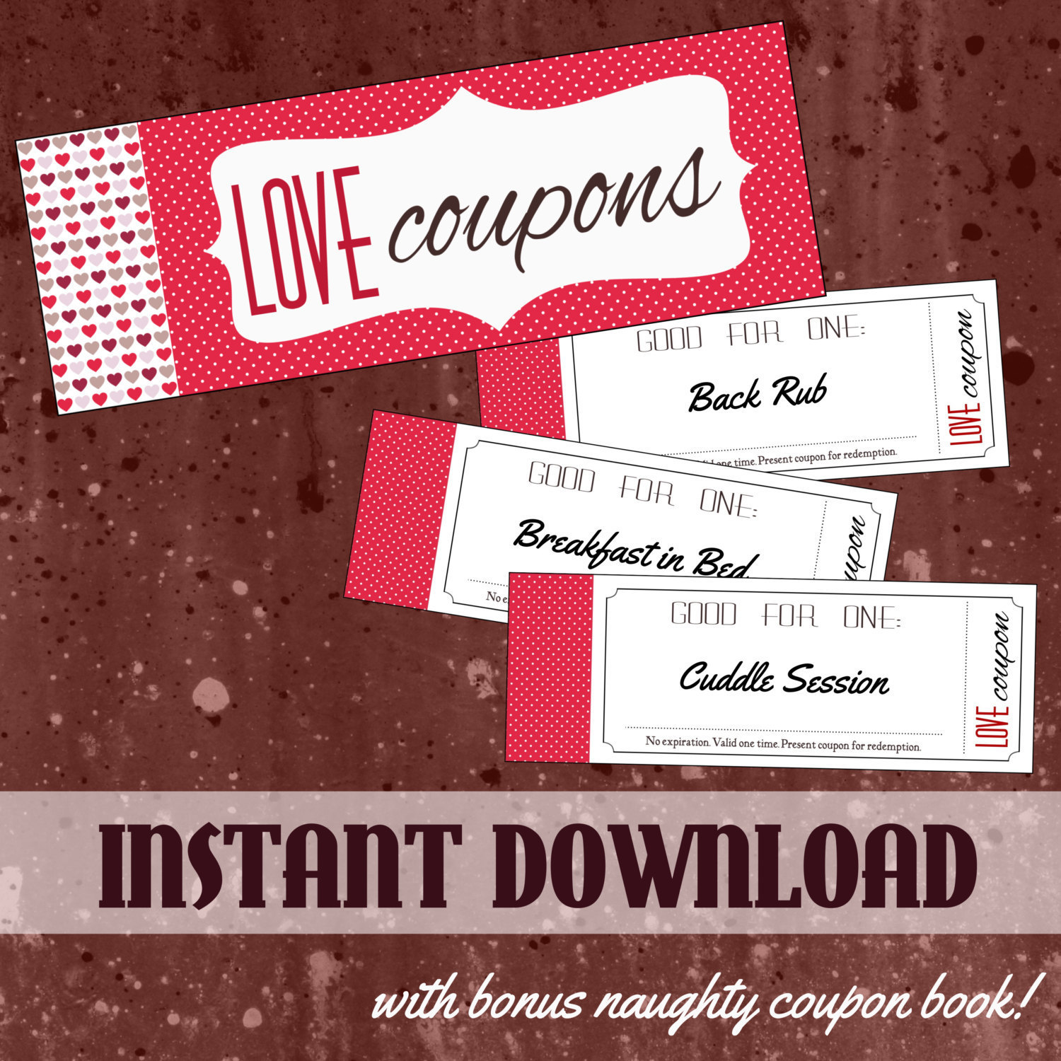 Sexual coupon book for boyfriend