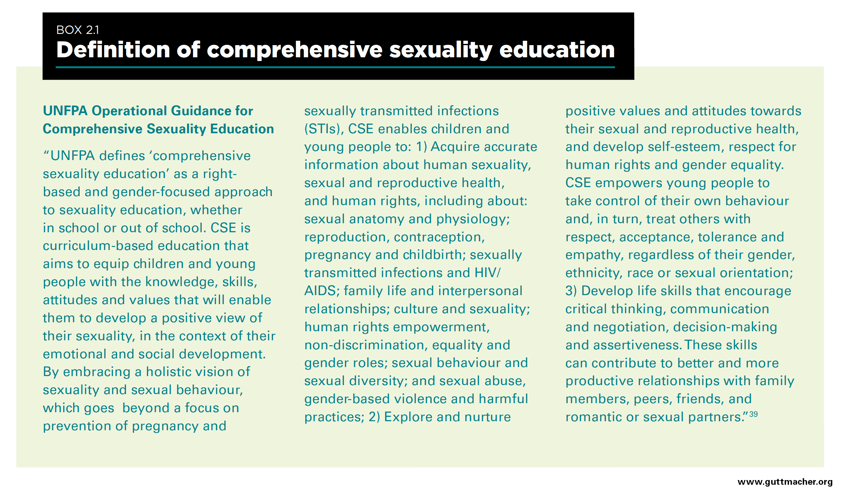 Comprehensive sex education and government