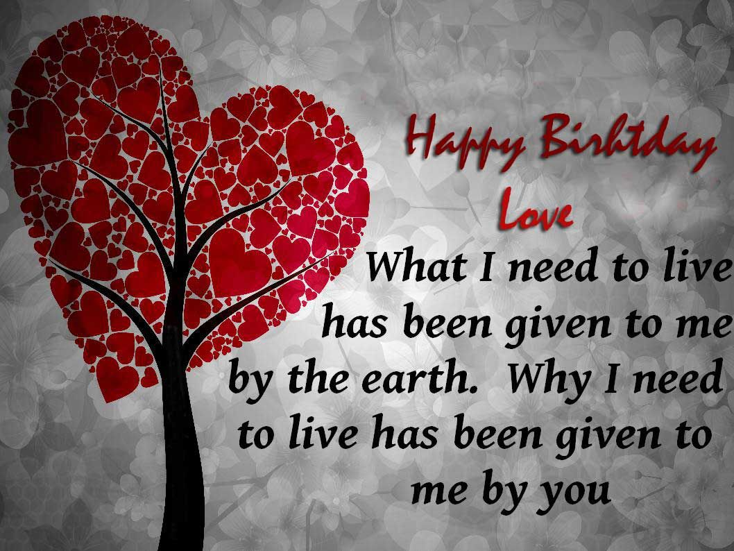 Happy birthday love quotes for girlfriend