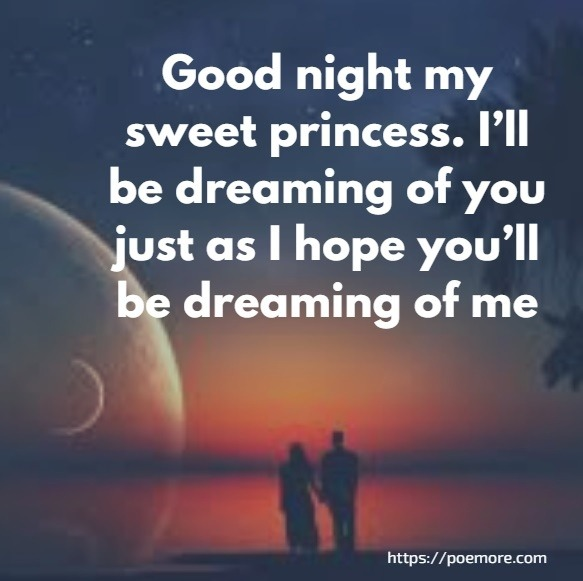 Sweet good night sms for her