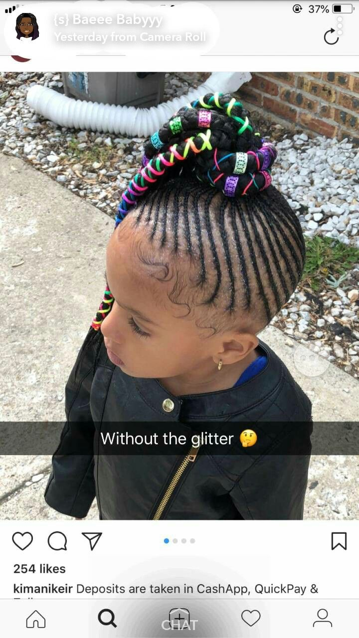 Little black girl french braid hairstyles