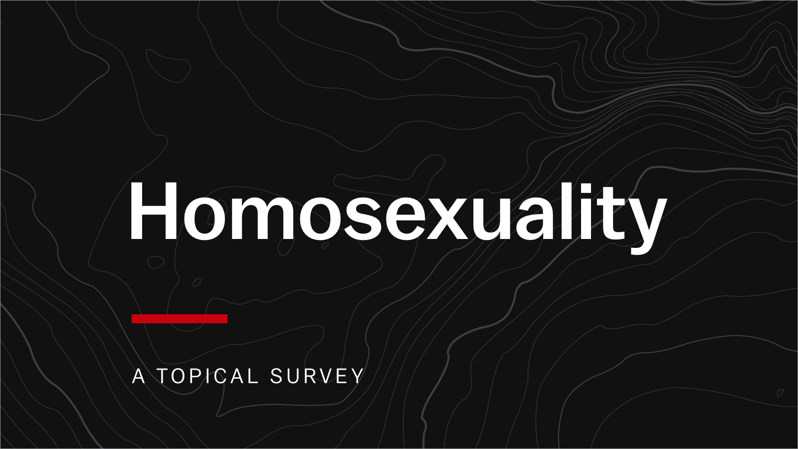 How to witness to homosexuals