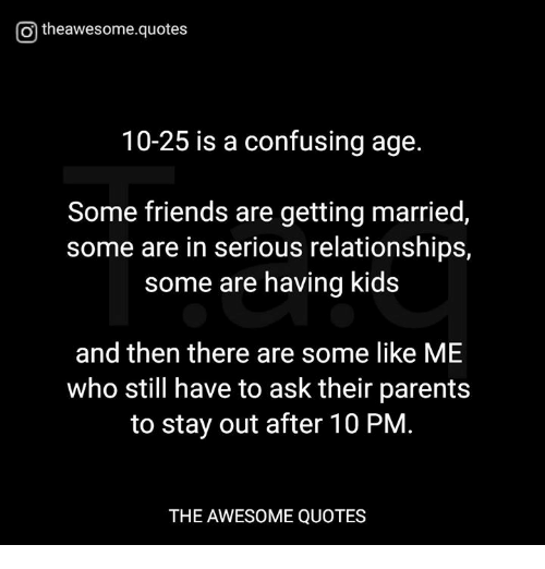 What age does dating become serious