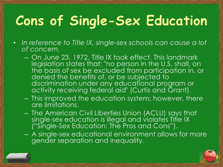 Causes and effect of sex education
