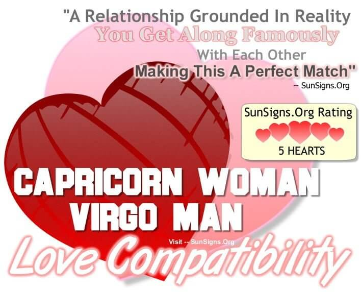 Virgo man compatibility with capricorn woman