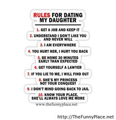 Funny sayings about dating my daughter