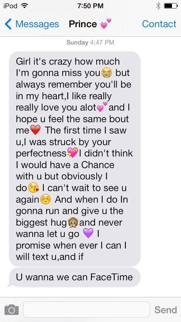 Sweet long texts to send your girlfriend