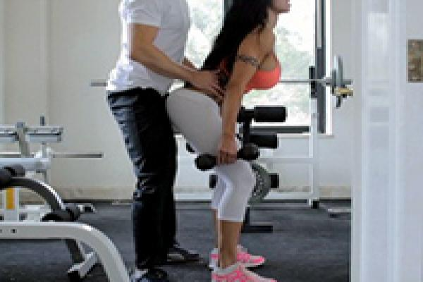 Horny trainers sex gym