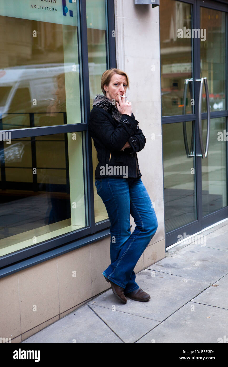 Candid women smoking