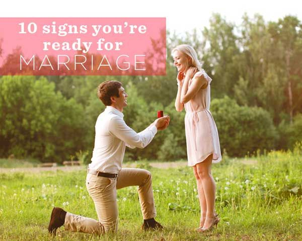 How to know you re ready for marriage