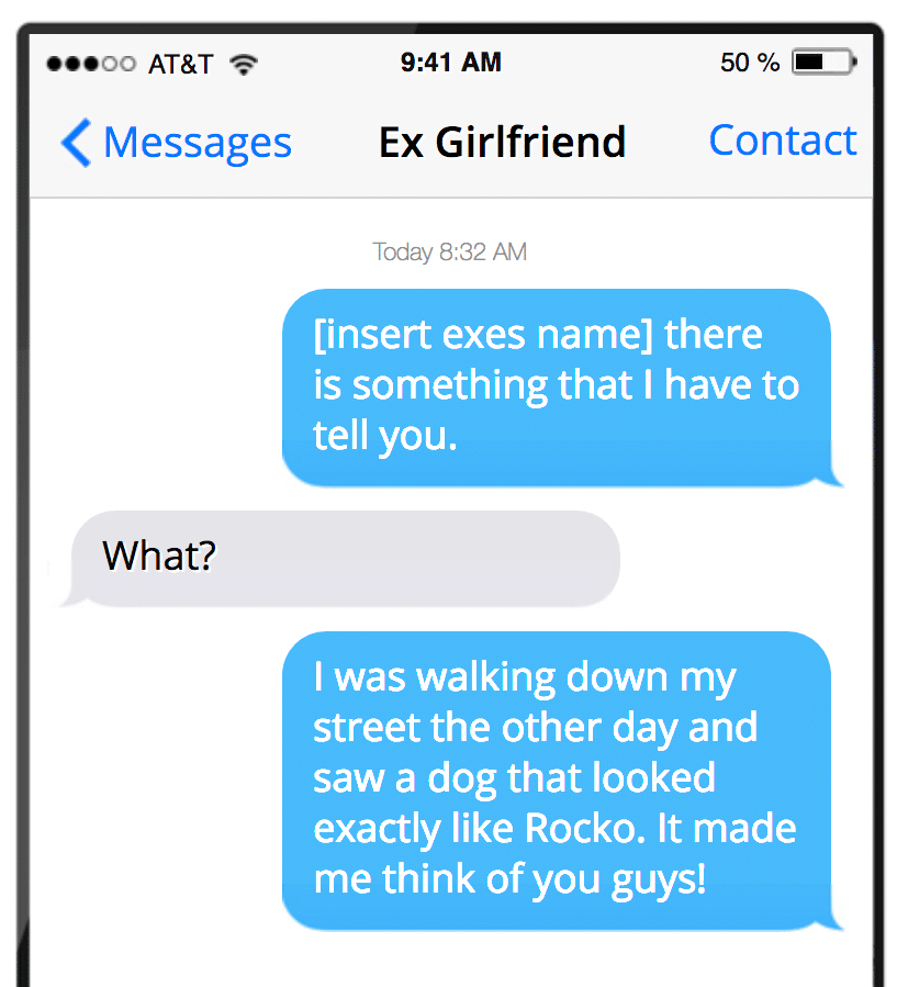 I want to text my ex