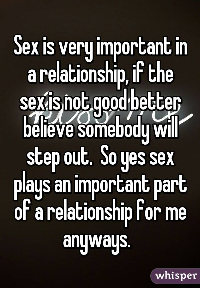 Is sex really important in a marriage