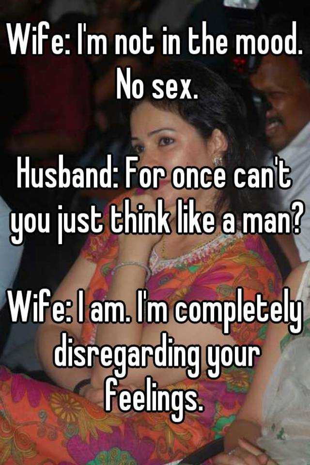 Wife not having sex with husband