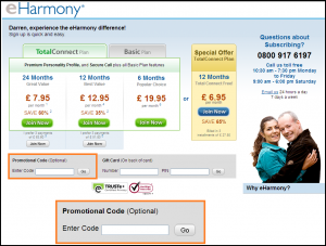 Eharmony coupons 3 months for 1
