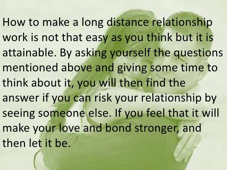 Best way to make a long distance relationship work