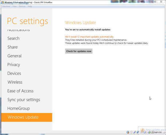 Updating drivers in windows 8