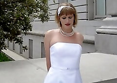 Crossdressing bride sex