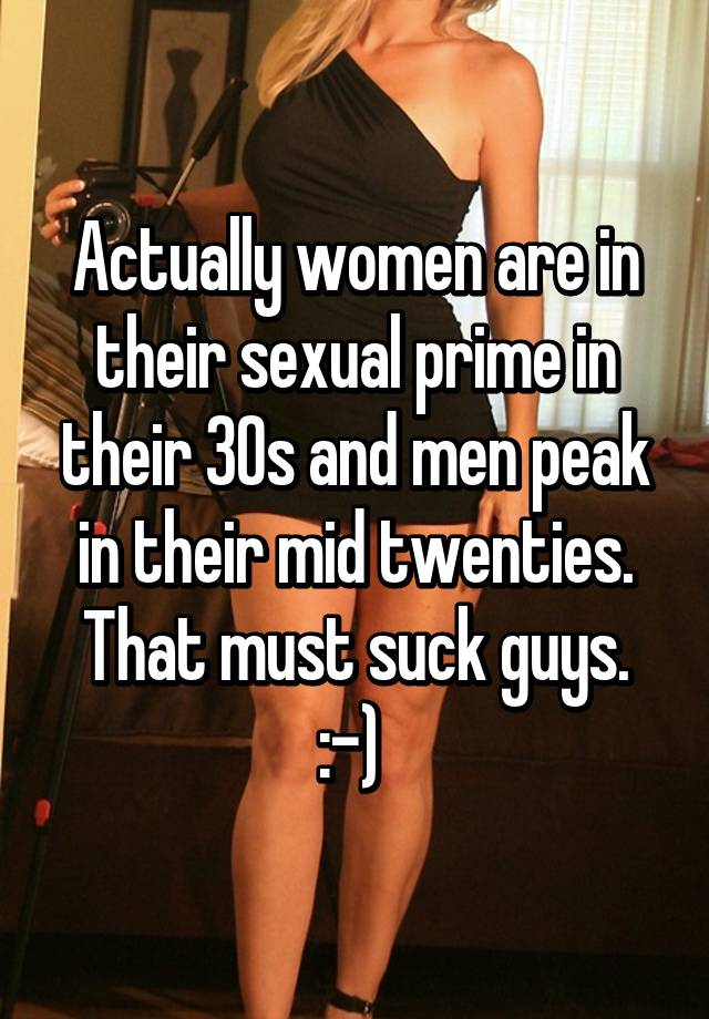 When does a man peak sexually
