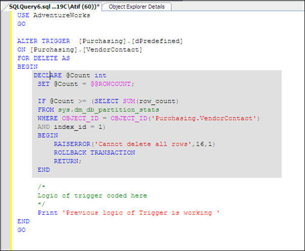 Oracle sql trigger if updating