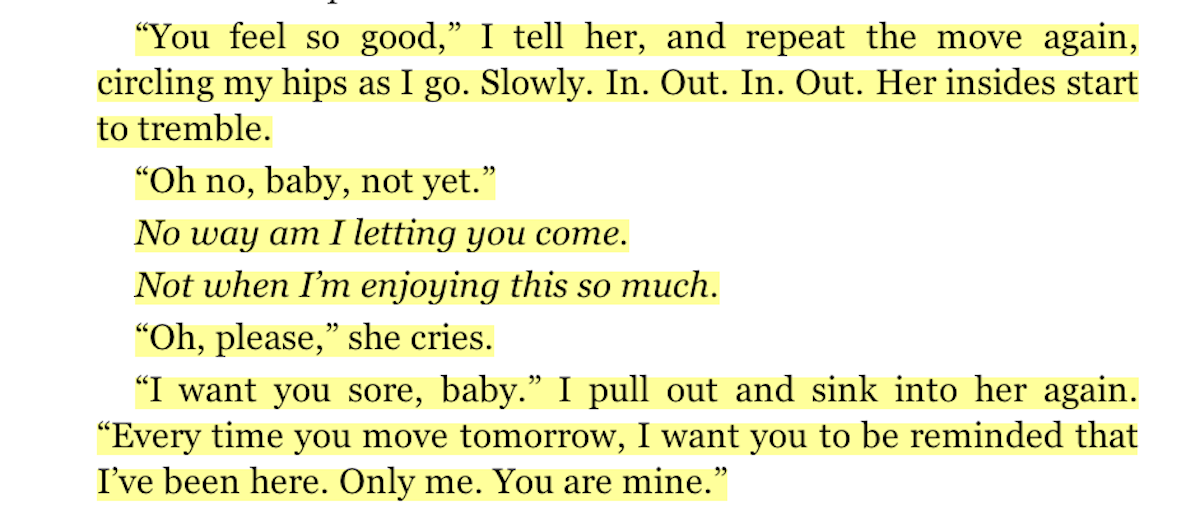 Fifty shades of gray book excerpt