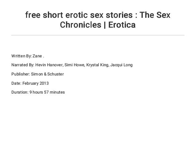 Free short stories on sex