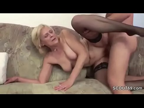 Grandmother showing grandson about sex