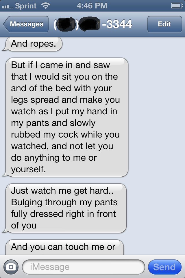 Hot texting sexting message for her