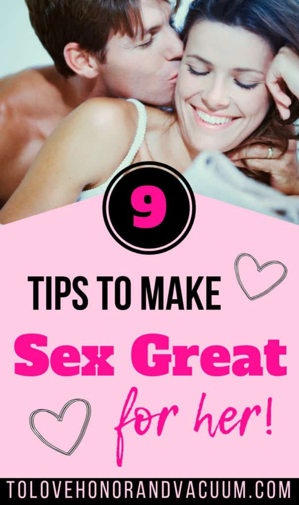 How to make a great sex
