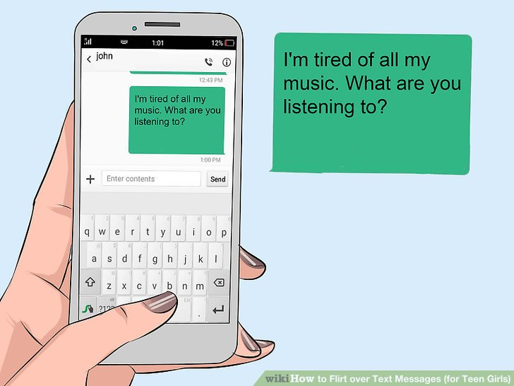 How to send a flirty text to a girl