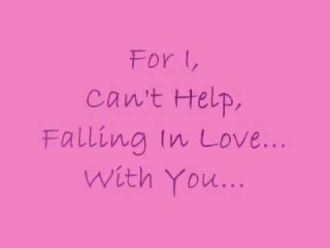 I cant falling in love with you