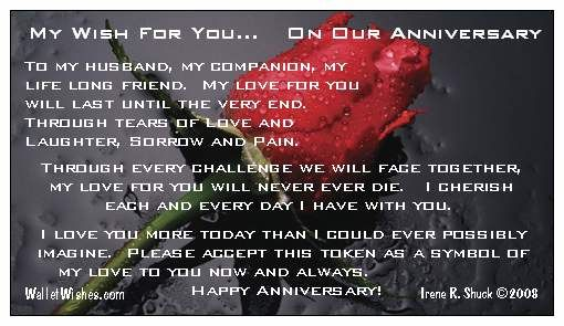 Message to my husband for our anniversary