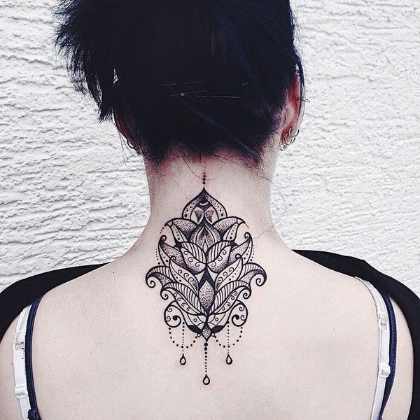Nape tattoo for women