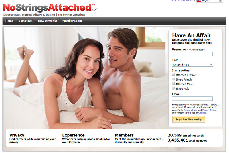 No strings attached sex web site