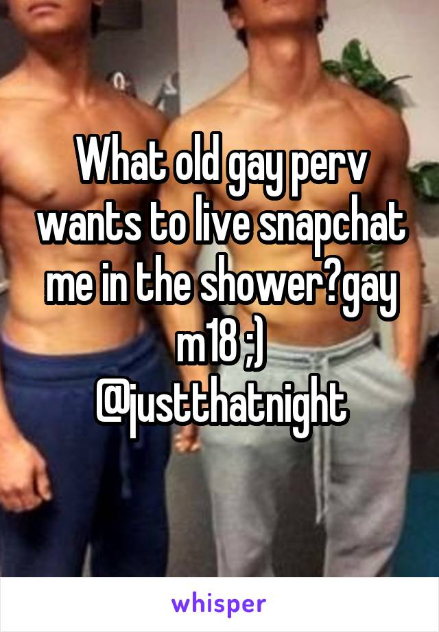 Old gay shower