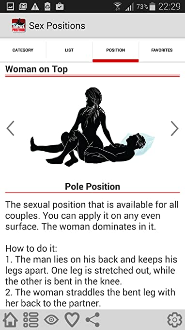 Pole postion sex postion