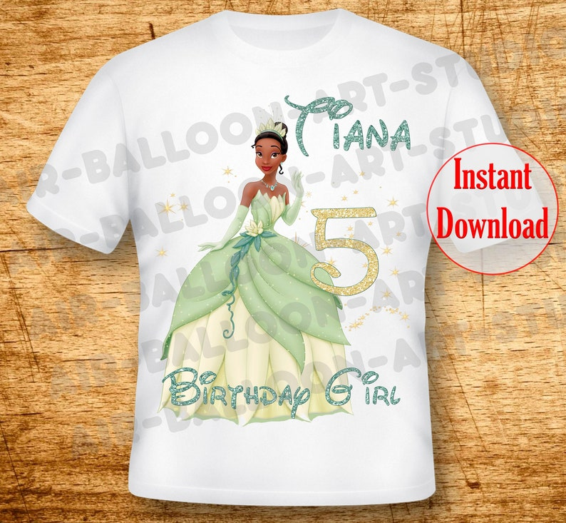 Princess tiana iron on