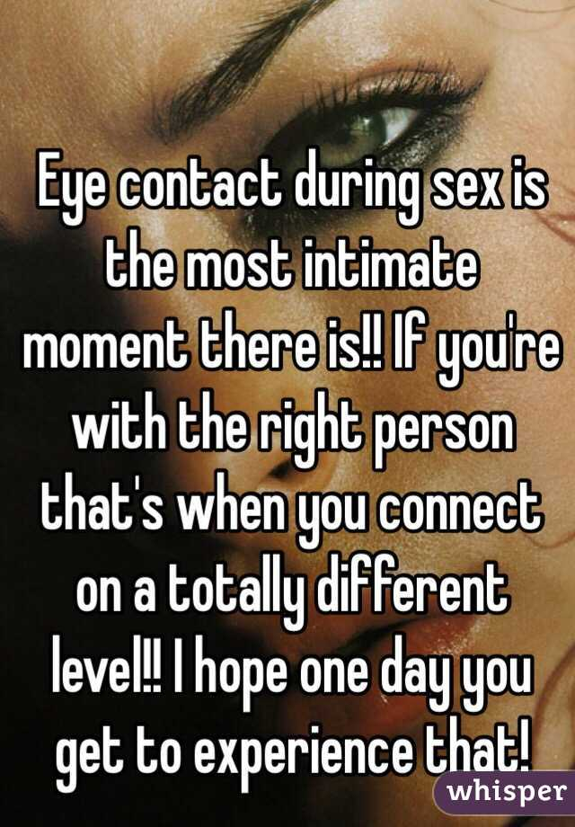 Sex and eye contact