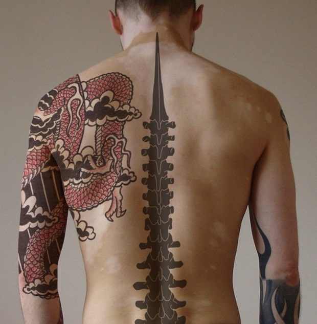Sexy back tattoos for men
