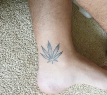 Small weed tattoos for girls