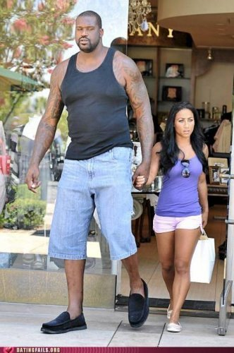 Tall person dating short person