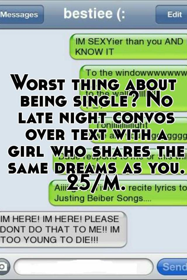 Things to text a girl at night