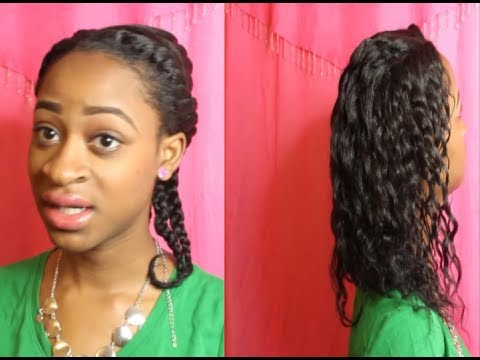 Two strand twist on relaxed hair