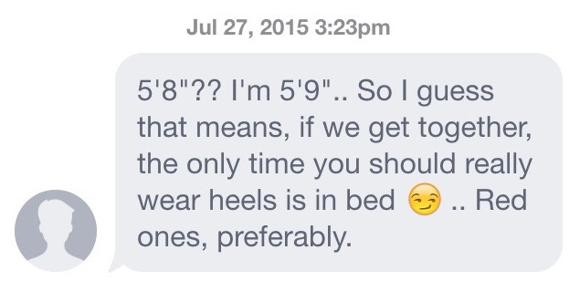Typical first message on dating site