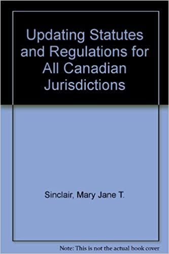 Updating statutes and regulations for all canadian jurisdictions
