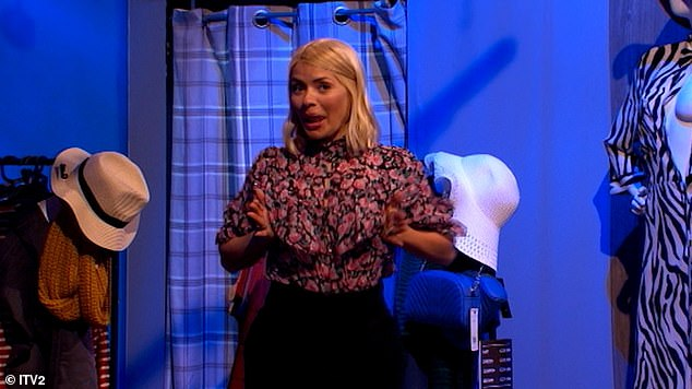 Holly willoughby boob falls out