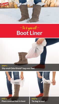 How to get your foot into boots