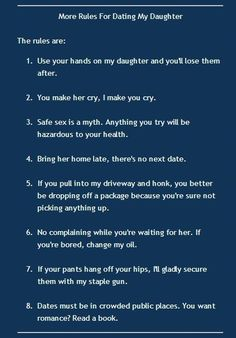 Rules for dating a marines daughter