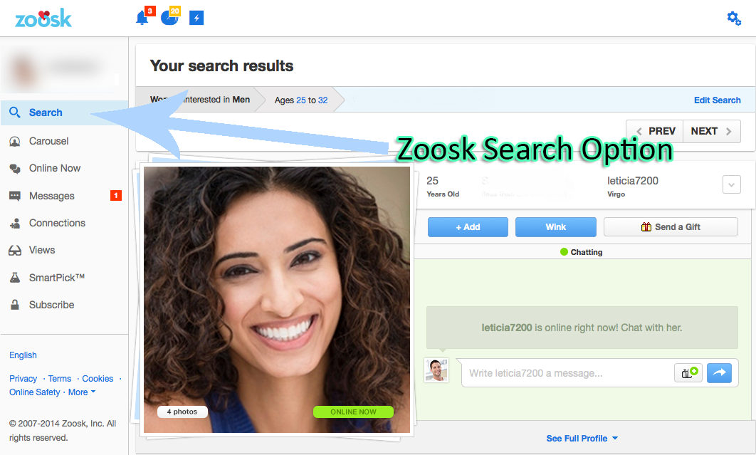 Search zoosk members without signing up. How do I view and